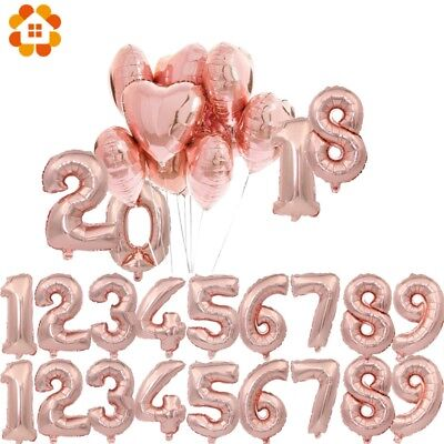 """32''/40"""" Number Shape Helium Foil Ballons Wedding Party Balloons Birthday Decors 3"""