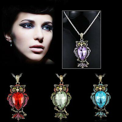 Women Crystal Rhinestone Butterfly Horse Animal Pendant Necklace Chain Jewelry 4
