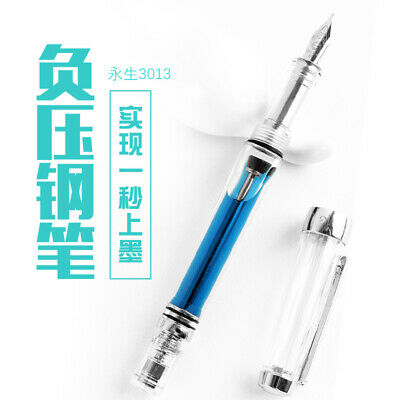 Wing Sung 3013 Vacuum Fountain Pen Paili 013 Resin Transparent Quality EF/F Nib 2