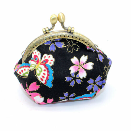 Collectable Handmade Japanese Style Fans Clasp Coin Purse Bag Change Wallets G 10