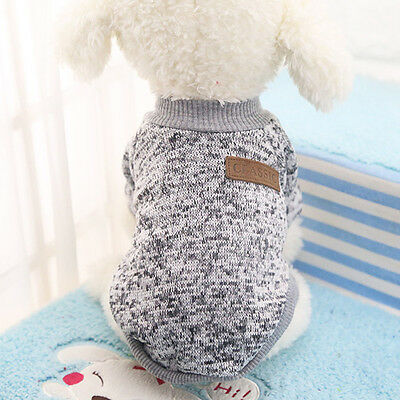 Cotton Pet Cat Dog Jacket Winter Clothes Small Puppy Doggie Sweater Coat Apparel 7
