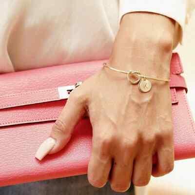 Bracelet Lettre Mode Rose Or//Argent Serpent Bijoux Porte-bonheur Personnalité