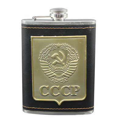 Portable Liquor Whiskey Alcohol Flagon Stainless Steel Hip Flask Wine Bottle 9oz