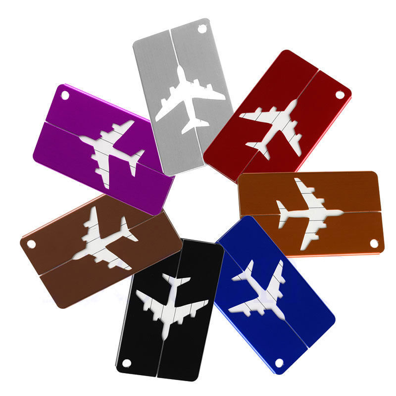 Travel Aluminium Plane Luggage Tags Suitcase Label Name Address ID Baggage Tag 4