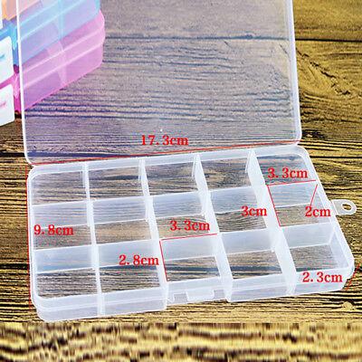 10//15//24 Fächer Sortierkasten Sortimentskasten Sortierbox transparent Taschen