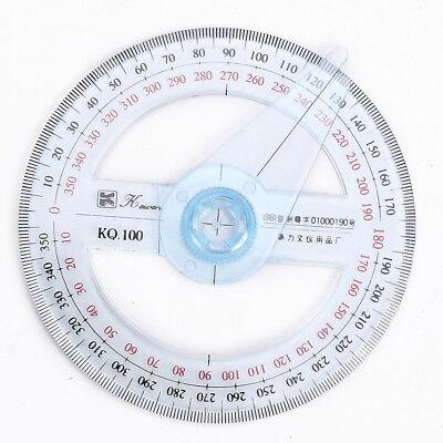 360 Degree Plastic Protractor Ruler Angular Viewer Swing Arm Student School Tool 3