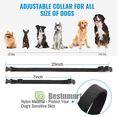 Waterproof 1000 Yard 2 Dog Shock Training Collar Pet Trainer with Remote 4 Mode 4