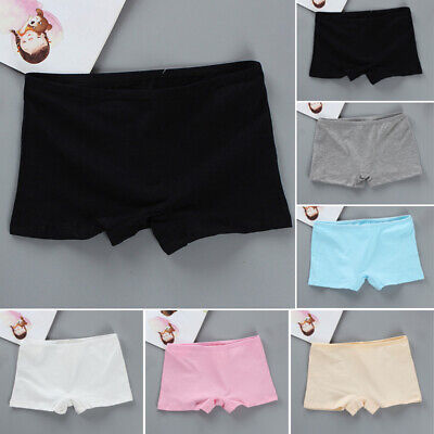 Kids Girls Teens Boxer Shorts Panties Briefs Knickers Cotton Comfy Underwear 5