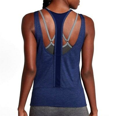 Nike Dry 904460 Women S Open Back Studio Tank Top Gym Training Tennis Yoga 20 00 Picclick