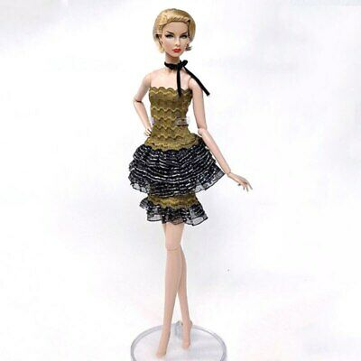 1set High Fashion Doll Clothes for 1/6 Doll Outfits Top Shirt & Skirt & Shawl 5