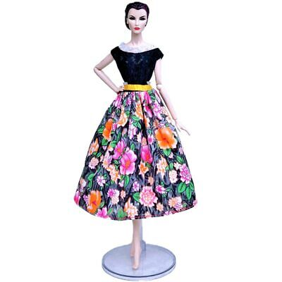 "Fashion Doll Clothes For 11.5"" Doll Dress Outfits Gown Top Floral Midi Skirt 1/6 8"