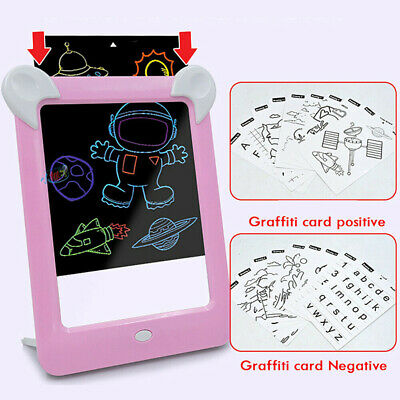 MagicToy Pad Light Up Drawing Pad with Neon Pen Creative Glow Art Light Effect 10