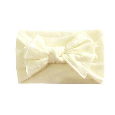 Newborn Baby Rabbit Headband Cotton Elastic Bowknot Hairband Girls Headwrap Band 6