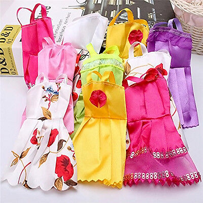 10PCS Fashion Lace Doll Dress Clothes For Dolls Style Baby Toys Cute Gift