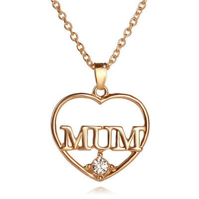 Mum Gold Crystal Necklace & Pendant NEW* Birthday Christmas Mothers Day Gift 5