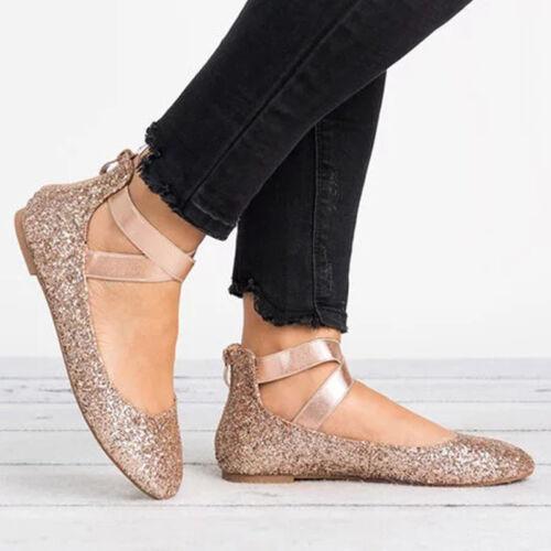 a0113079ab966e Damen Ballerinas Knöchelriemen Flache Slipper Halbschuhe Loafers  Sommerschuhe DE 8 8 von 10 Siehe Mehr