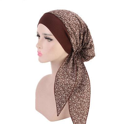 Women Cancer Hat Chemo Pirate Cap Muslim Hair Loss Head Scarf Turban Head Wrap 10