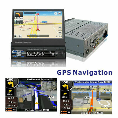 "7"" Autoradio 1Din Mit Gps Navigation Navi Bluetooth Touch Screen Usb Sd Mp3 Map 4"