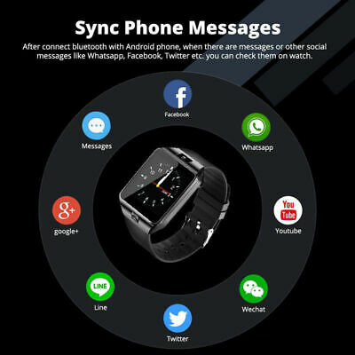 DZ09 Bluetooth Smart Watch Camera Phone Mate GSM SIM For Android iPhone Samsung 5