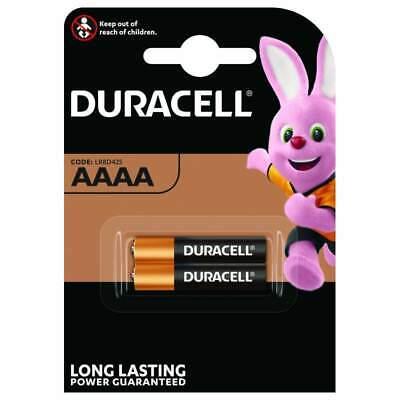 2 X Duracell AAAA 1.5 V Ultra Piles Acalines MN2500 MX2500 E96 LR61 7