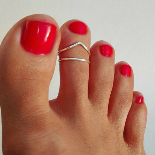 Female Rose Gold Silver Plated Toe Ring Special Finger Foot Rings Jewelry DB 6