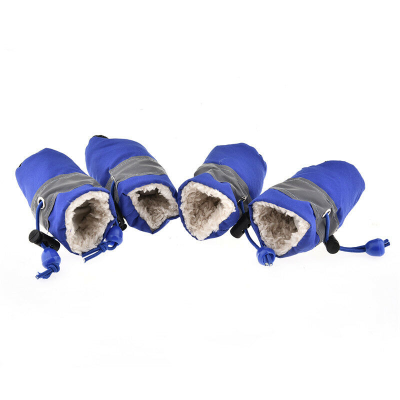 4Pcs Waterproof Pet Non-slip Shoes Winter Dog Cat Snow Boots Warm Puppy Booties 10