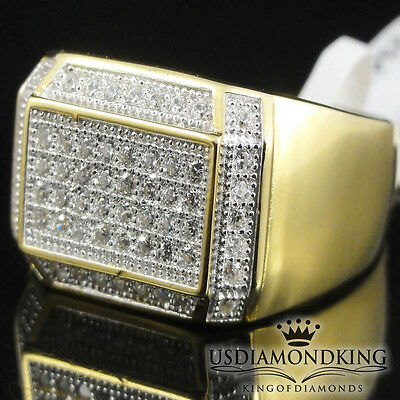 Mens Yellow Gold Over Sterling Silver Tarnish Free Pinky Wedding Band Ring S8~12