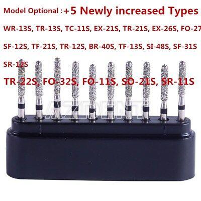 20 Type Dental Diamond Bur Drills Turbine Burs For High Speed Handpiece 10Pc/Box 4