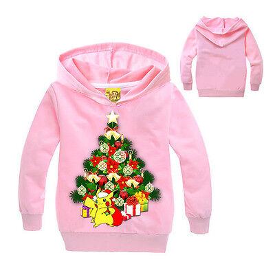 Natale Tema Bambino Felpe Con Cappuccio Giacca Top Vestiti 3