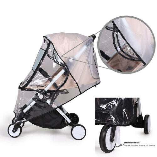 Universal Waterproof Zipper Plastic Non Toxic Rain Cover For Baby Stroller Clear 3