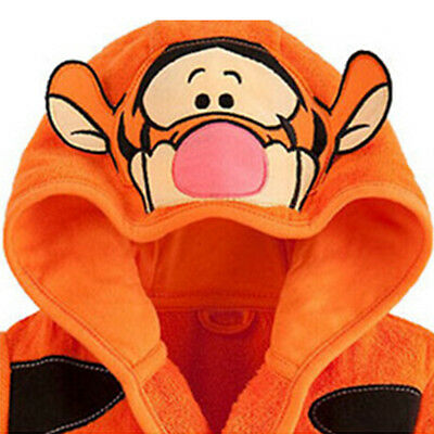 Kid Boys Girls Mickey Minnie Mouse Pajamas Hooded Bathrobe Dressing Gown Warmer 5