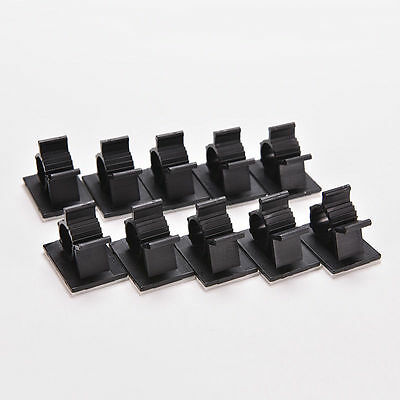 A6E4 10Pcs Cable Drop Clip Tidy Organiser Wire Cord USB Charger Holder Fixer