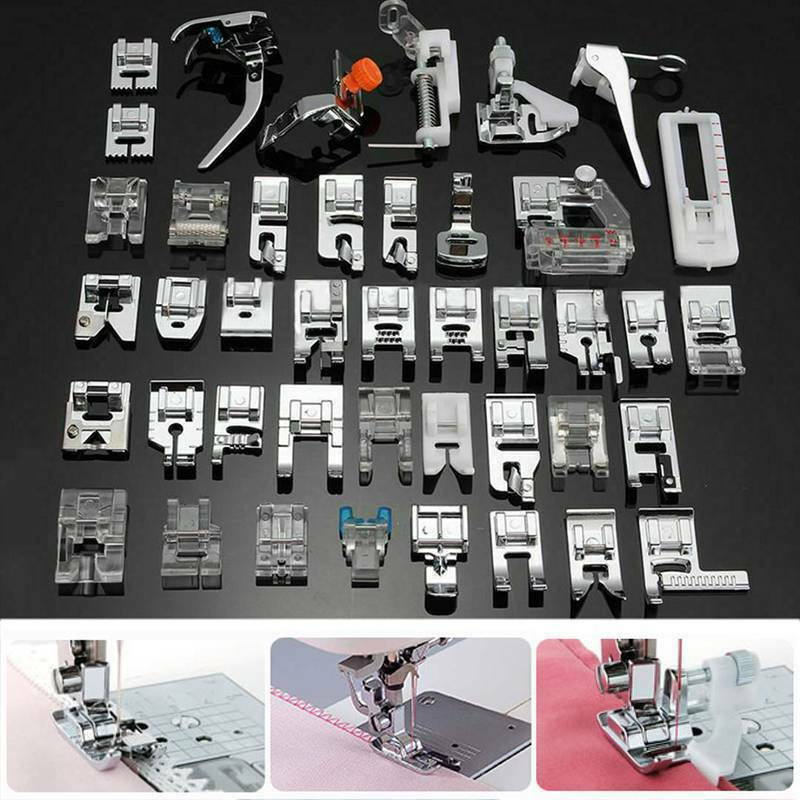 32 Pcs Sewing Machine Foot Feet Presser Domestic Tool Kit For Brother Singer