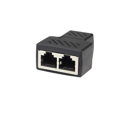 1 à 2 LAN Ethernet réseau RJ45 répartiteur prolongateur connecteur adaptateur~PL 5