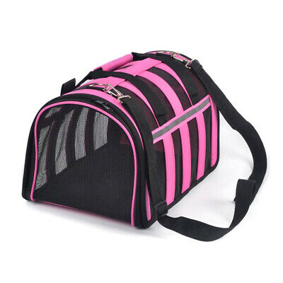 Pet Carrier Soft Sided Cat / Dog Comfort Travel Tote Bag Airline Approved S/M/L 4