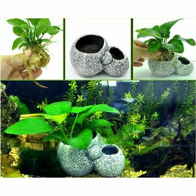 Aquarium Plant Bonsai Stone Pot Fish Tank Stone Cave Decoration Fish Breeder 22 99 Picclick