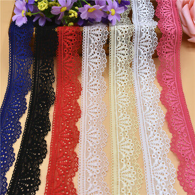 10 Yards stretch Lace Ribbon 30MM Lace Trim DIY Embroidered Net Lace for sewing 2