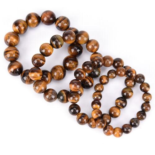 Natural Tiger Eye Stone Lucky bénir perles homme Bracelet Bijoux femme 8