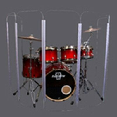 Drum Shield DS4 L 5 Section Drum Shield Acrylic Drum Panels with Flexible Hinges 2