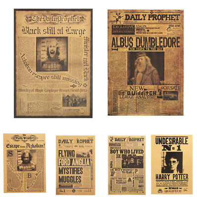 Kraft Paper Posters Harry Potter Bar Cafe Wall Vintage Decorative Painting 10
