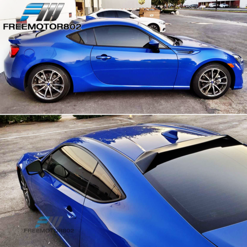EPARTS Glossy Black Shark Fin Rear Roof Spoiler Wing Window Roof Vortex Spoiler Fit for 2013-2016 Subaru BRZ Scion FRS FR-S
