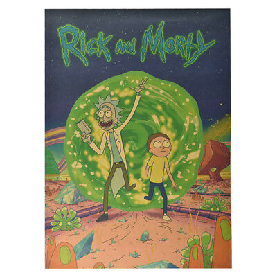 Classic Anime Rick And Morty The Last Supper Kraft paper Poster Cafe Decoration 3