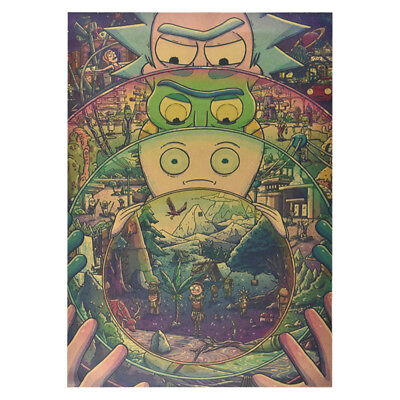 Classic Anime Rick And Morty The Last Supper Kraft paper Poster Cafe Decoration 6
