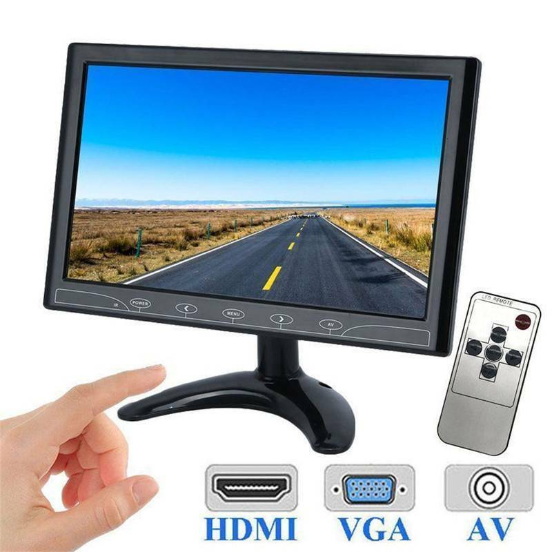 "10"" Inch TFT LED Screen CCTV Surveillance Monitor AV/VGA/HDMI Input & Speaker UK 12"
