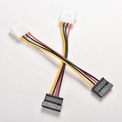 3Pcs 4-Pin IDE Molex to 15-Pin Serial ATA SATA Hard Drive Power Adapter Cable E$