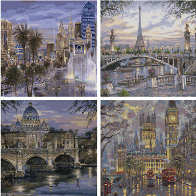Various Art Paint By Number Kit DIY Acrylic Oil Painting On Canvas Linen Decor 3
