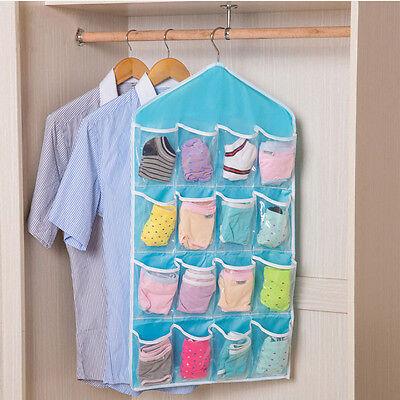 16 Pockets Door Wardrobe Hanging Organizer Bag Shoe Rack Hanger Closet Storage L 10
