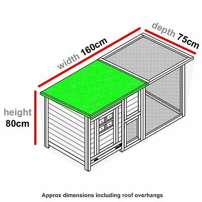 Chicken Coop & Run Hen House Poultry Ark Home Nest Box Coup Coops Rabbit Hutch + 7