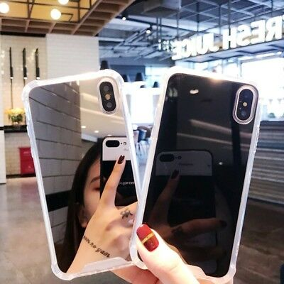 For iPhone 8 X 7 6S Plus XS Shockproof Armor Luxury Mirror Hard Back Case Cover 3