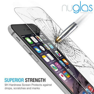 2x Nuglas Tempered Glass Screen Protector For iPhone XS Max X 8 7 6 6S Plus 11